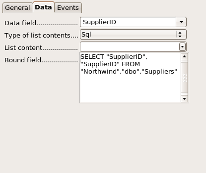 Supplier ID properties dialog box.