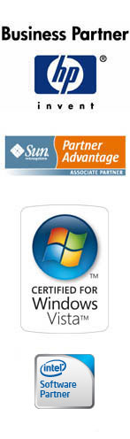 HP Business Partner. Sun Associate Partner. Certified for Windows Vista. Intel® Software Partner Program.