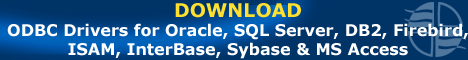 Download ODBC Drivers for Oracle, SQL Server, DB2, Firebird, ISAM, InterBase, Sybase, MS Access and more.