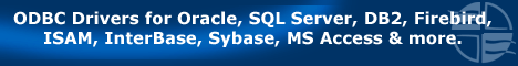 ODBC Drivers for Oracle, SQL Server, DB2, Firebird, ISAM, InterBase, Sybase, MS Access & more.